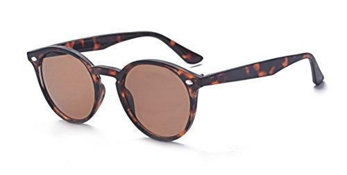 ALWAYSUV Klassische Runde Spiegel Sonnenbrille Herren Damen Brillenfassung