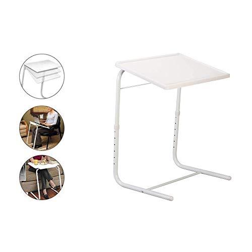 GNSDA Zusammenklappbares TV-Tablett, Verstellbarer TV-Tablett-Tisch, TV-Tablett auf Bett und Sofa, komfortabler Klapptisch mit 6 Höhen- und 4 Neigungswinkeln