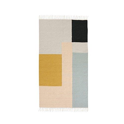 Ferm Living - Teppich Kelim Squares 80 x 140 cm