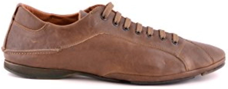 Costume National Herren MCBI074053O Braun Leder Sneakers