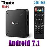 SreeTeK™️ X96™️ Tanix™️ TX3 Mini L Alice UI Android 7.1 Mini PC, Android TV Box Supports JIO TV, Hotstar Apps, UHD 4K 1080P Smart TV Box (2GB - 16GB)