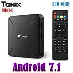 SreeTeK™️ X96™️ Tanix™️ TX3 Mini L Alice UI Android 7.1 Mini PC, Android TV Box Supports JIO TV, Hotstar Apps, UHD 4K...
