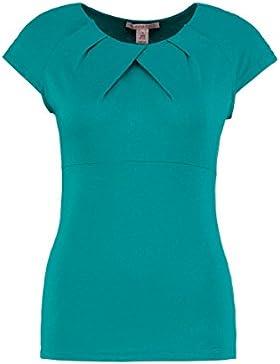 Anna Field T-Shirt da Donna Elegante con Sofisticato Collo a Drappeggio - Top in Morbido Jersey Elasticizzato...