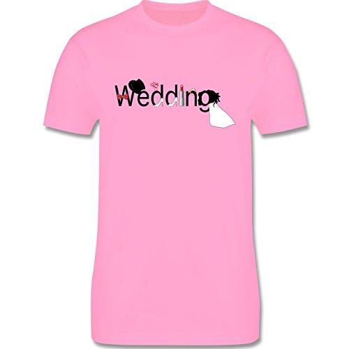 Hochzeit - Wedding - Herren Premium T-Shirt Rosa