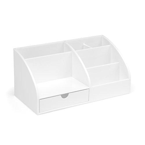 Osco - Schreibtisch-Organizer, aus Kunststoff weiß