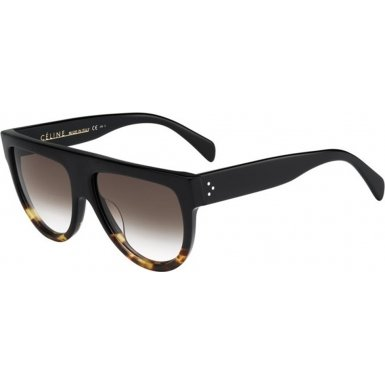 celine-41026-black-tortoise-frame-brown-gradient-lens-plastic-sunglasses