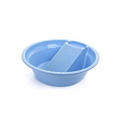 Goodevening Handwäsche Wanne Waschwanne integriertes Laundry Wash Basin Waschbrett Waschbrett Handwäsche Hilfe Wäschewanne Wanne Plastikwaschbecken