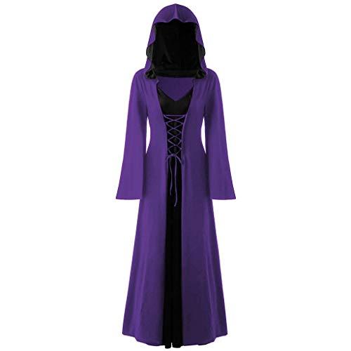 Bademantel Mit Übergroßer Kapuze Kostüm - Damen Mittelalter Kleid Gothic Umhang Mit