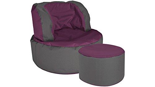 MAGMA Sitzsack SCUBA Bebop, 2er Set auberginefarben