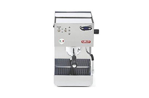 Lelit Glenda PL41PLUST semi-professionelle Kaffeemaschine, ideal für Espresso-Bezug und Cappuccino-Edelstahl-Gehäuse und PID Termperaturregler, Stainless Steel, silber metallic -