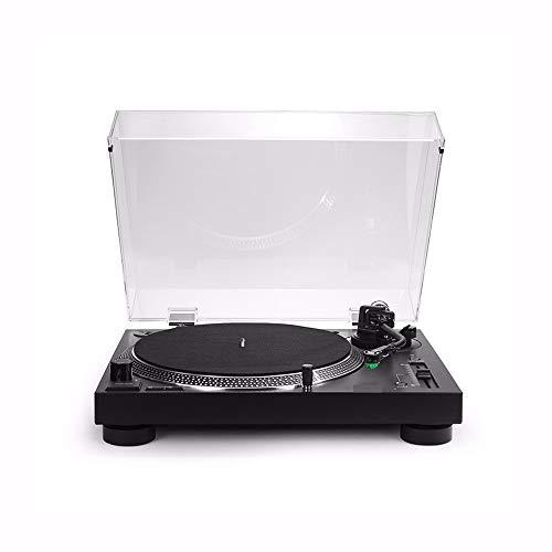 SMLCTY AT-LP120X-USB Direct Drive DJ Turntable, Vinyl HiFi Fever Professionale Gramophone Record Player, Supporti 3 Costi di 33/45/7 8, Compatibile con sistemi operativi Multipli