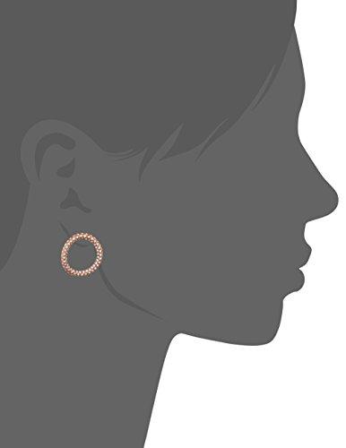 Maha lozi (Boucles d'oreilles créoles en argent sterling 925plaqué or rose 18ct avec Cosmetics Hoola mahalozi001hoolahoop blanc
