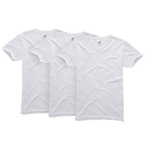 Fruit of the Loom Men's Original V-Neck T-Shirt 3-Pack -