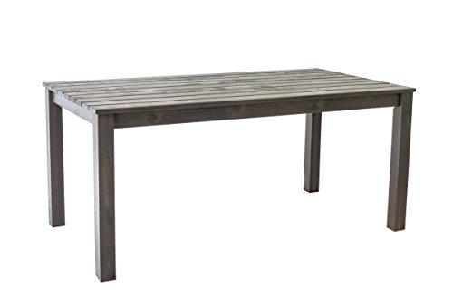 Ambientehome Tisch, Gartentisch Massivholz Esstisch Oslo, taupegrau, 160x86x72 cm, 90752