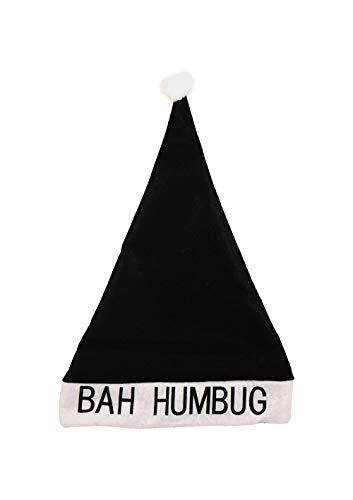 christmasshop Bah Humbug mürrischer Weihnachtsmann-Hut - - Humbug Kostüm