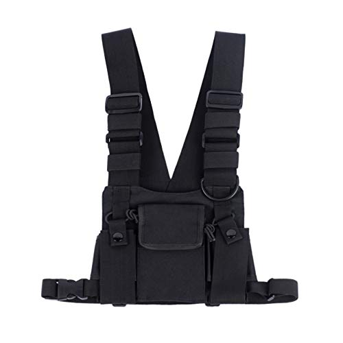 Saigain Universal Hände frei Radio Weste Chest Rig Harness Bag Zwei-Wege-Radio (Rescue Essentials) -