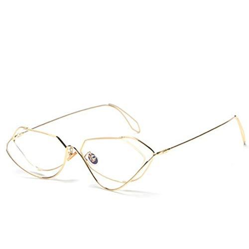 XINGMU Frau Unregelmäßige Stilvolle Sonnenbrillen Mode Retro Reisen Frau Neue Brille Gesicht Ausdünnung UV 400,2