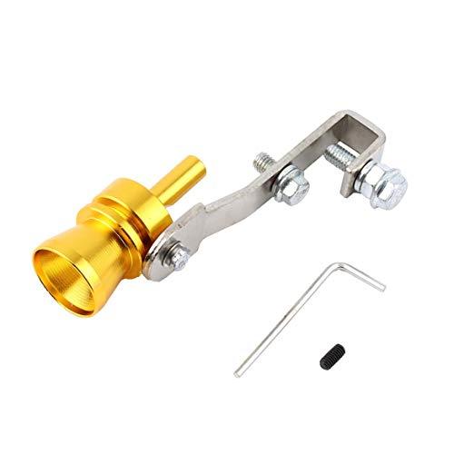 Universal Auto Turbo Gefälschte Sound Auspuff Whistle Blow Off Valve Simulator L Mit Gold Farbe - Gold L