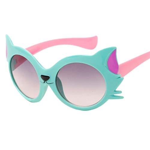 GAXIA Home Kindersonnenbrille-Baby-Mädchen-Jungen-Karikatur-Katze UV400-Kleinkind-Sonnenbrille