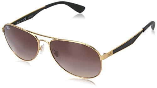 Ray-Ban Herren Sonnenbrille Rb 3549 Matte Gold/Gradientbrown, 61