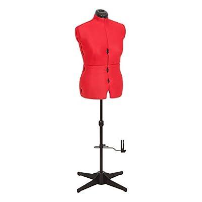 Adjustoform Maniquí de costura ajustable, busto de mujer de 8 piezas para coser de color rojo 023817/Reino Unido, tallas 44 a 50 de Adjustoform