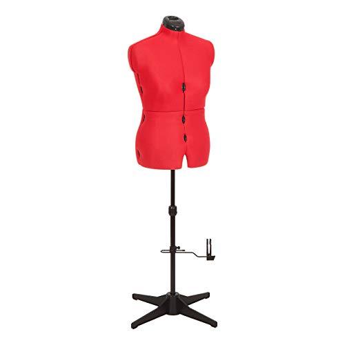 Adjustoform - Maniquí de Costura Ajustable, Busto de Mujer de 8 Piezas para Coser de Color Rojo 023817/Reino Unido, Tallas 44 a 50