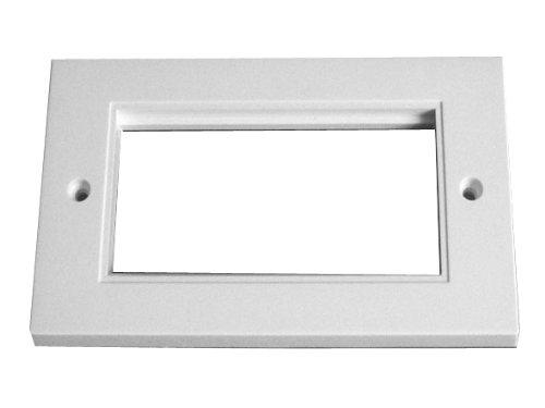 2x 100x 50mm Quad presa dati Faceplates, moduli di rete (Faceplate Quad)