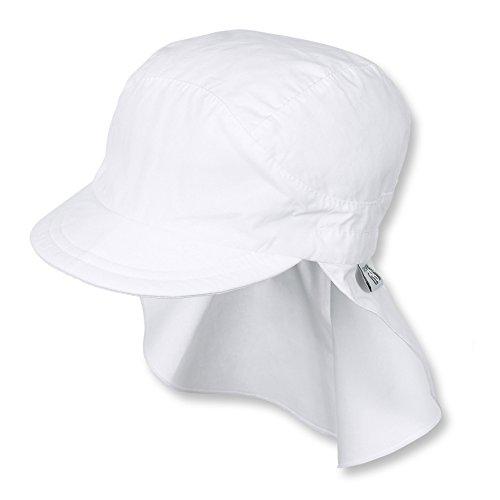 Sterntaler Unisex Schirmmütze mit Nackenschutz, Weiß,53