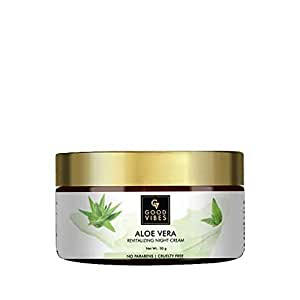 Good Vibes Aloe Vera Revitalising Face Cream - 50 g - Nourishing Formula For Treating Dry, Flaky and Damaged Skin - Paraben and Cruelty Free
