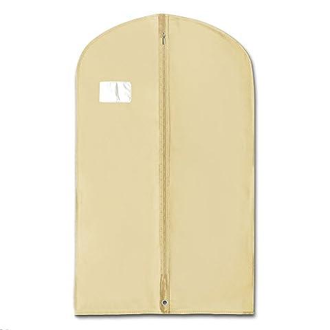 Hangerworld Single Ivory Breathable Suit Garment Clothes Coat Jacket Cover Bag - 40