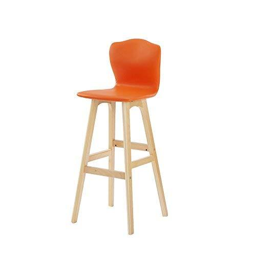 ch-AIR Chaise de Salle à Manger/siège de Bar,Chair Chaise de Salon en Bois Massif à Dossier Haut Room Salon/Réception / Salon de beauté/Salon de Coiffure/Tabouret,74cm,* 03