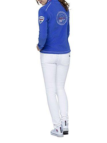 T181 - Fleecejacke HENSON, Lifestyle-Jacke, Hoody Damen, amparo-blau