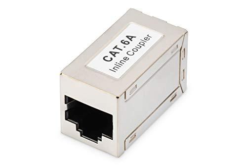Digitus DN93905 Adattatore Passante con 2 Connettori Rj45-8P8C Schermato Femmina/Femmina Cat.6A