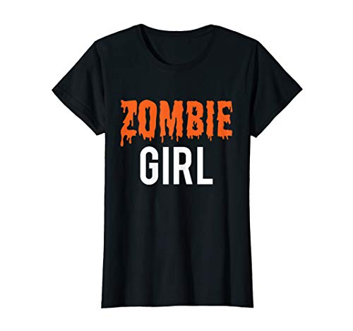 Halloween Familie Zombie Mädchen Kostüm für Mädchen T-Shirt (Matching Mädchen Kostüm)