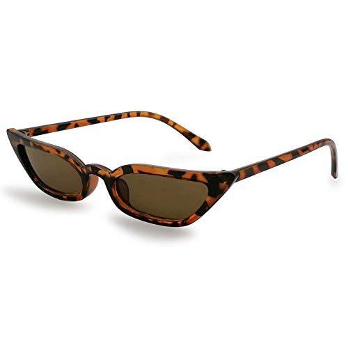 Livhò trasparente occhiali da sole 2018 donna rotondi vintage grandi occhi di gatto montatura (leopardo/brown)