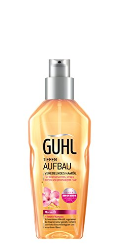Guhl Tiefen Aufbau Veredelndes Haaröl - 1er Pack (1x 100 ml) - mit Monoi-Öl - regeneriert die Haar-Struktur - verleiht luxuriösen Glanz