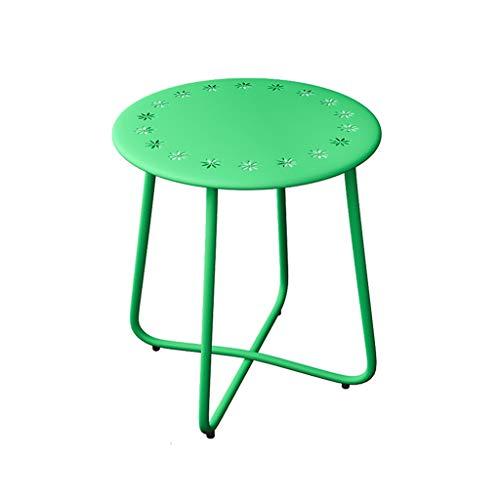 LJF Eisen Kunst Tisch, kreative Multicolor Sofa Seite Tee Tisch Balkon Wohnzimmer Nachttisch...