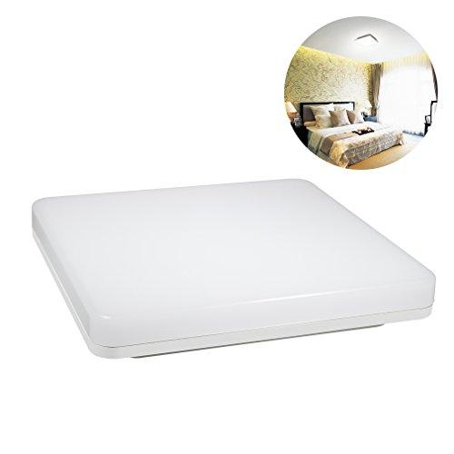 J&C® 18W 1550LM IP44 Plafond LED De Forme Carré Lampe LED Ampoule 3725~4275K Blanc Naturel LED Lampe PC Plafonnier Luminaires pour Maison/Hôtel