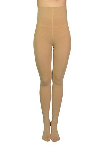 AMORETU Damen Plus Size Strumpfhose Winter Undurchsichtige Gefüttert Schwarze/Hautfarbene 120D Art B: Nackt