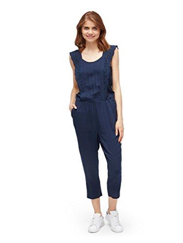 TOM TAILOR Denim Damen Jumpsuit Overall, Blau (Real Navy Blue 10360), Large