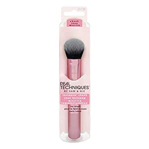 Real Techniques 1736M Instapop Cheek Brush Brocha para Mejillas 60 g, Negro/Rosa