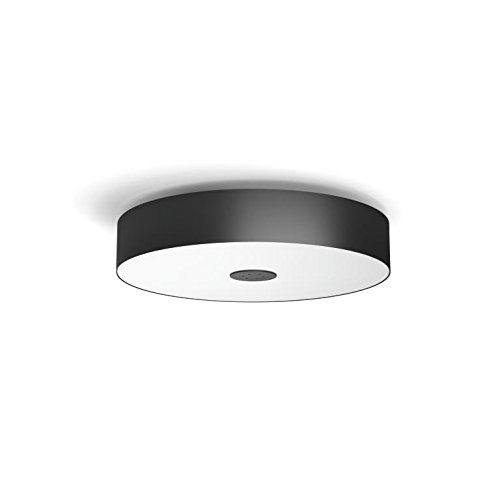 Philips Hue LED Deckenleuchte Fair inkl. Dimmschalter, dimmbar, alle Weißschattierungen, steuerbar via App, schwarz, kompatibel mit Amazon Alexa (Echo, Echo Dot) (Helfen Sie Mit Amazon Echo)