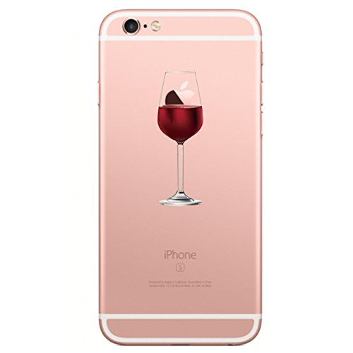 iPhone 6 Plus/6s Plus hülle vanki® Lustig Schutzhülle Clear Case Cover Bumper Anti-Scratch TPU Silikon Handyhülle für iPhone 6 Plus/6s Plus (5,5 Zoll) (Dandelion) Wine