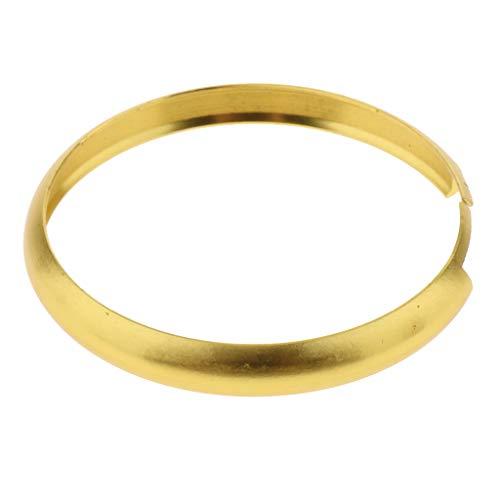 Shiwaki Aluminium Schlüsselring Schlüsselkette Ringe Klein Schlüsselanhänger Spalt Ring für Schlüssel Organisation, 48 mm - Golden (Ringe Schlüsselanhänger Kleine)