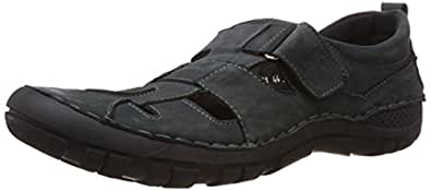 Numero Uno Men's Navy Leather sandals and floater-10 UK/44 EU