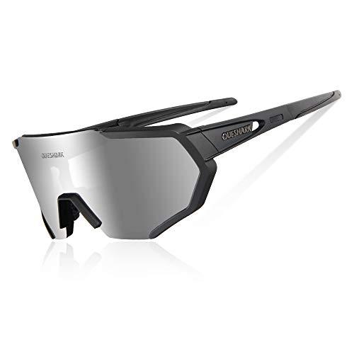 Queshark Gafas De Sol Polarizadas Ciclismo 3 Lentes