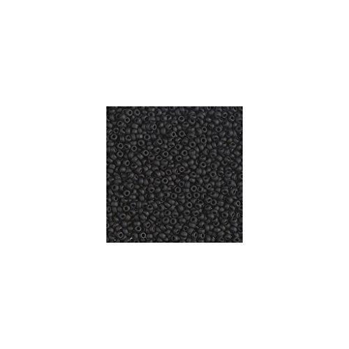 Miyuki Rocaille 15/0 401F - Black Mat (Schwarz 0 Rocailles 15)