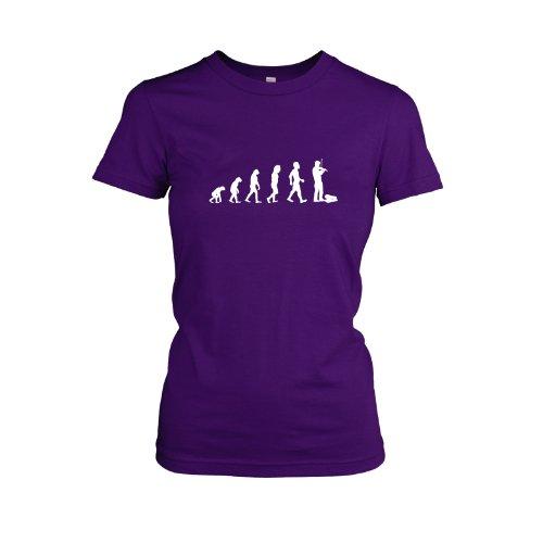 Geige / Violine Evolution - Damen, T-Shirt, Größe L, violett