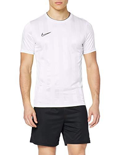 Nike Herren M NK BRT ACDMY TOP Short Sleeve GX2 T-Shirt, White/Black, XL - Mesh Black Short Sleeve Top