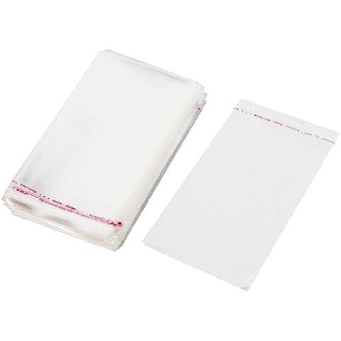 200pcs Adhesivo Plástico Transparente Sello Granos De La Joyería Opp Bolsas 13cmx9cm